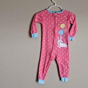 Carter's Pink Bunny Pajamas 12 Months
